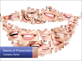 Smile collage PowerPoint Template - Slide 1