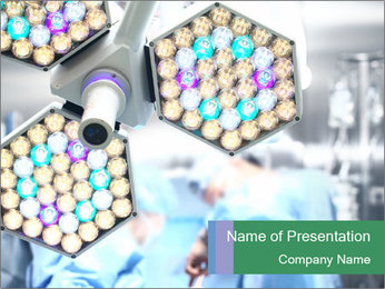 Medical lamp PowerPoint Template - Slide 1