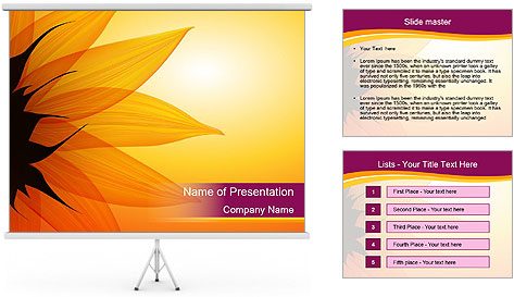 Sunflower PowerPoint Template