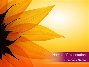 Sunflower PowerPoint Template - Slide 1