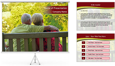Retired couple PowerPoint Template