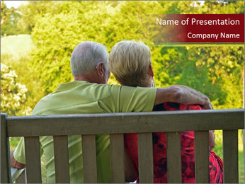 Retired couple PowerPoint Template - Slide 1