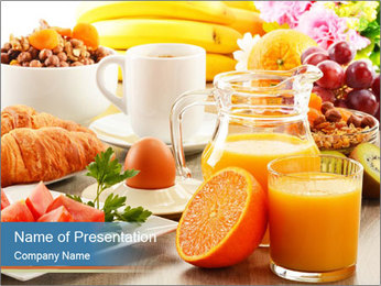 Breakfast with coffee PowerPoint Template