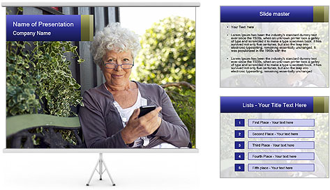 Senior woman PowerPoint Template