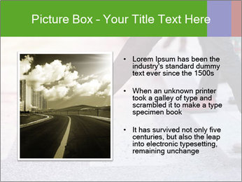 Man taking the step PowerPoint Template - Slide 13