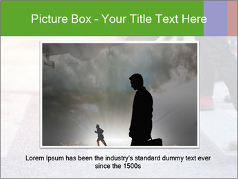 Man taking the step PowerPoint Template - Slide 16