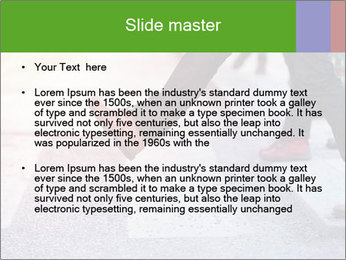 Man taking the step PowerPoint Templates - Slide 2