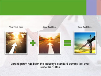 Man taking the step PowerPoint Template - Slide 22