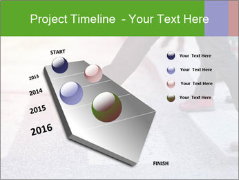 Man taking the step PowerPoint Template - Slide 26