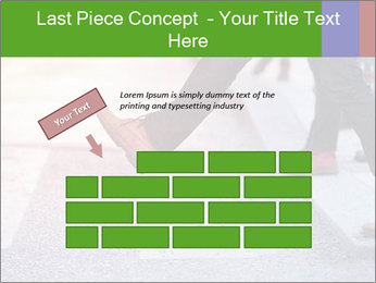 Man taking the step PowerPoint Template - Slide 46