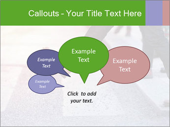 Man taking the step PowerPoint Template - Slide 73
