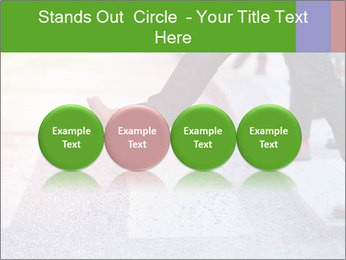 Man taking the step PowerPoint Template - Slide 76
