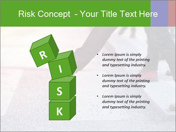 Man taking the step PowerPoint Template - Slide 81