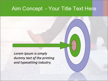 Man taking the step PowerPoint Template - Slide 83