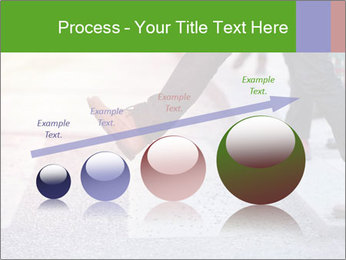 Man taking the step PowerPoint Template - Slide 87