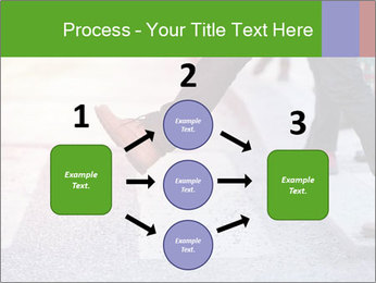 Man taking the step PowerPoint Template - Slide 92
