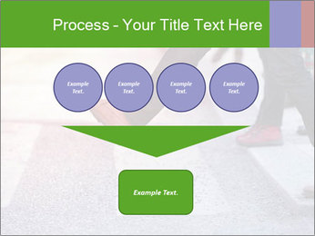Man taking the step PowerPoint Template - Slide 93