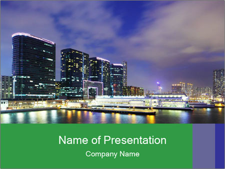 Kowloon downtown PowerPoint Template