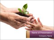 Life in your hands PowerPoint Templates