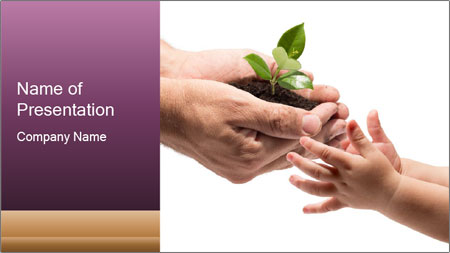 Life in your hands PowerPoint Template