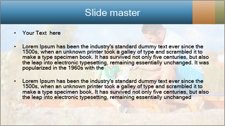 Father bandaging PowerPoint Template - Slide 2