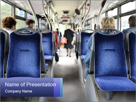 Inside bus PowerPoint Templates