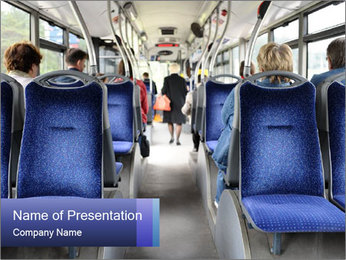 Inside bus PowerPoint Template