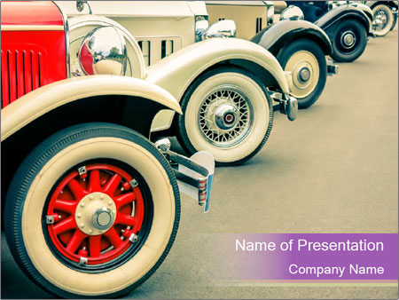Vintage Car PowerPoint Templates