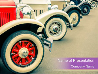 Vintage Car PowerPoint Template - Slide 1