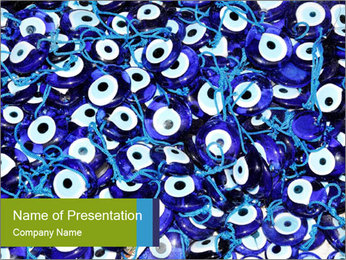 Evil Eye PowerPoint Template - Slide 1