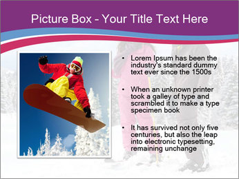 Young woman and man skiers PowerPoint Template - Slide 13
