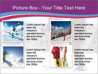 Young woman and man skiers PowerPoint Template - Slide 14