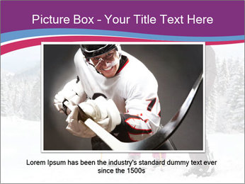 Young woman and man skiers PowerPoint Template - Slide 15