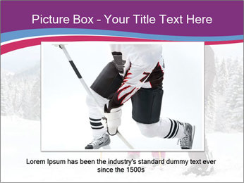 Young woman and man skiers PowerPoint Template - Slide 16