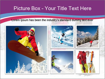 Young woman and man skiers PowerPoint Template - Slide 19