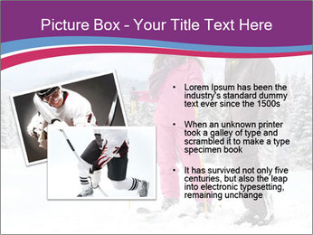 Young woman and man skiers PowerPoint Template - Slide 20