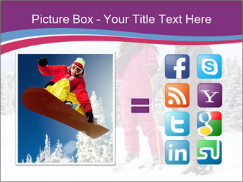 Young woman and man skiers PowerPoint Template - Slide 21