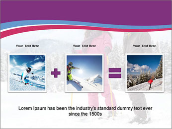 Young woman and man skiers PowerPoint Template - Slide 22