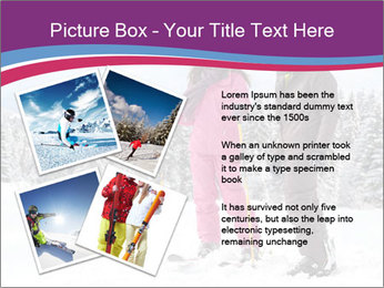 Young woman and man skiers PowerPoint Template - Slide 23