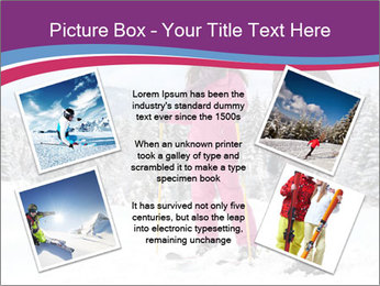 Young woman and man skiers PowerPoint Template - Slide 24