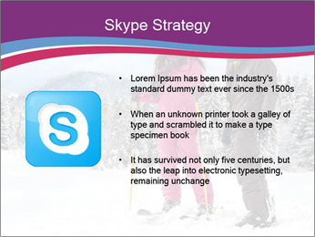 Young woman and man skiers PowerPoint Template - Slide 8