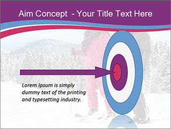 Young woman and man skiers PowerPoint Template - Slide 83