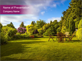 English Garden PowerPoint Template