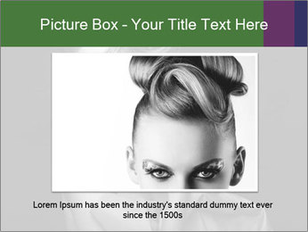 Emotional portrait of a beautiful blonde PowerPoint Template - Slide 16
