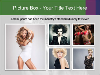 Emotional portrait of a beautiful blonde PowerPoint Template - Slide 19