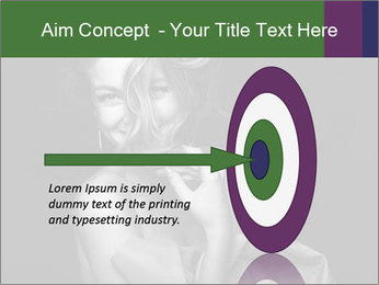 Emotional portrait of a beautiful blonde PowerPoint Template - Slide 83