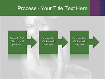 Emotional portrait of a beautiful blonde PowerPoint Template - Slide 88
