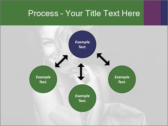 Emotional portrait of a beautiful blonde PowerPoint Template - Slide 91