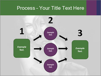 Emotional portrait of a beautiful blonde PowerPoint Template - Slide 92