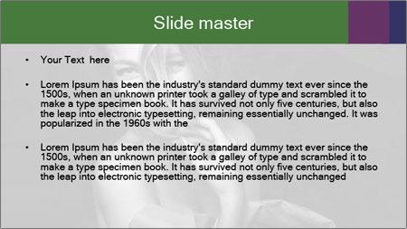 Emotional portrait of a beautiful blonde PowerPoint Template - Slide 2
